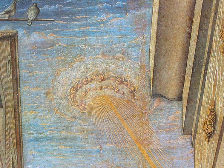 Particolare dell'Annunciazione di Carlo Crivelli
