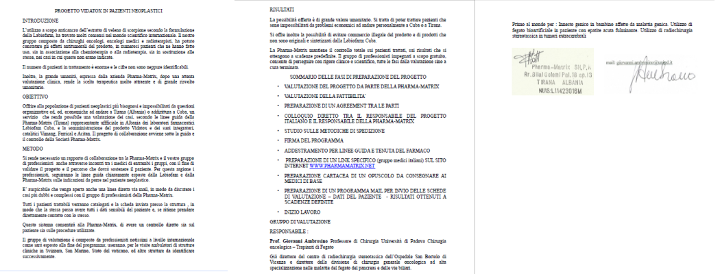 Protocollo Vidatox - Clicca per ingrandire