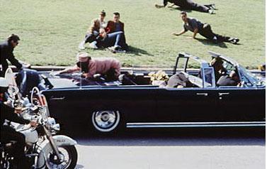 Un immagine drammatica dell'omicidio Kennedy