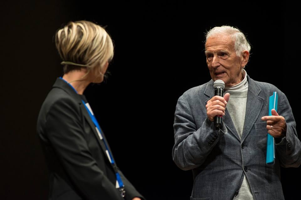 Il Prof Garattini con la giornalista Nadia Toffa