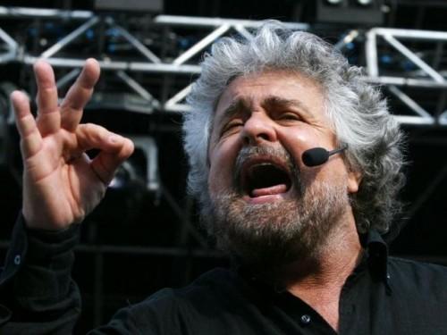 Bepe Grillo in una delle sue esibizioni